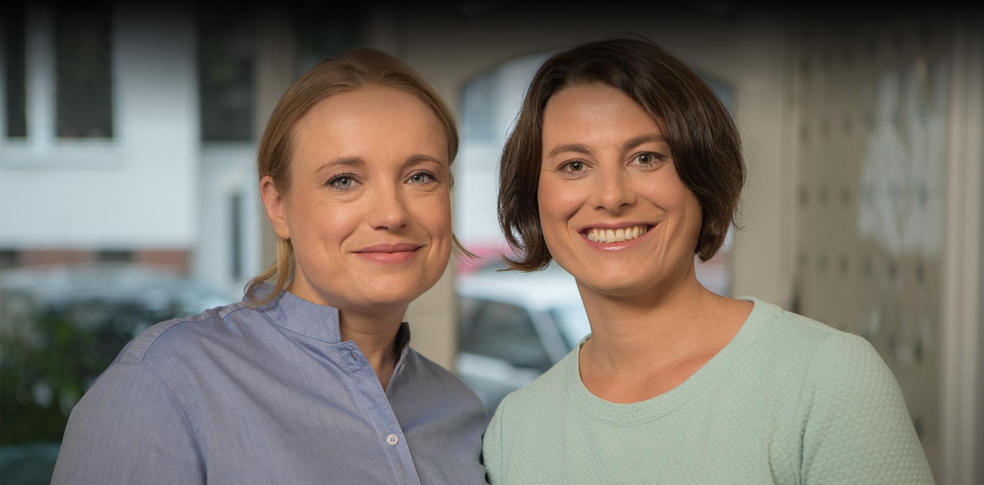 Hebammen Sonja Heilmann und Marei Heimburger